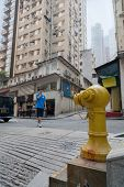 HONG KONG - NOVEMBER 14, 2012: Fire hydrant on the street in Hong Kong. Fire safety is an important