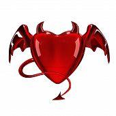 3D heart devil