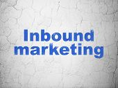 Finance concept: Inbound Marketing on wall background
