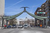 Eagle Gate in Salt Lake City, Utah