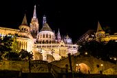 Fisherman's Bastion Night View, Budapest, Hungary