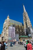 Beautiful View Of St. Stephen's Cathedral At Evening, Vienna, Austria