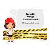 Website Under Construction Message