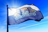 Orlando, Florida (usa) Flag Waving On The Wind