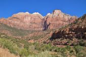 Exposed earth layers in Zion