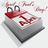 1 April, April Fool's Day, Day of laughter. Vector