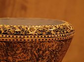 Extreme close-up of Tabla