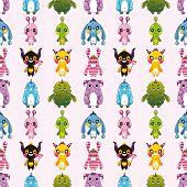 Seamless Monster Pattern