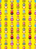 Seamless Russian Doll Pattern
