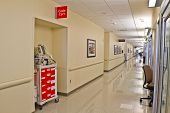 Emergency Code Cart Hospital Hallway