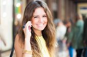 Portrait of a woman talking on the cell phone