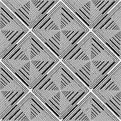 Design Seamless Monochrome Rhombus Stripy Pattern