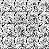 Design Seamless Monochrome Helix Movement Snakeskin Pattern