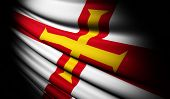 Guernsey Flag Waving On The Wind