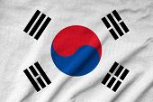 Ruffled South Korea Flag