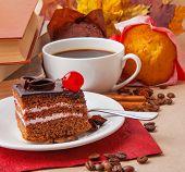Chocolate Cake And Books