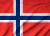 Ruffled Norway Flag