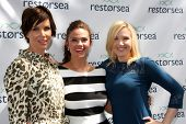 LOS ANGELES - MAY 3:  Sarah Buxton, Susan Ward, Adrienne Frantz at the RESTORSEA Gifting of Skin Care Product at NEMO on May 3, 2014 in West Hollywood, CA