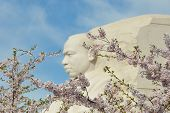 WASHINGTON DC - APRIL 13, 2014: The Martin Luther King Jr Memorial located on the National Mall on t