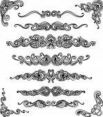 stock photo of hand drawn  - Set of hand drawn decorative elements - JPG