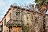 Old derelict house on the island of Murano in Venice, Italy