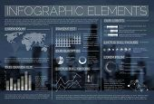 Night transparent Vector set of Infographic elements for your documents and reports