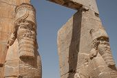 pic of xerxes  - the Xerxes gate at the ancient Achaemenid city of Persepolis in Iran - JPG