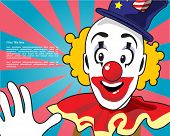 picture of clown face  - Retro - JPG