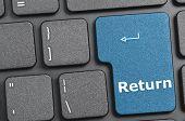 Return key on keyboard