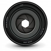 Camera lens shutter, vector illustration.