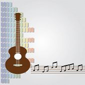 classical guitar and equalizer background vector