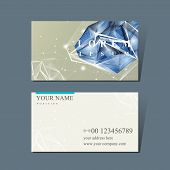 Business Card With Diamond Element