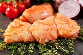 Marinated Chicken Breast with Rosemary and Vegetables