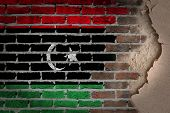 Dark Brick Wall With Plaster - Libya