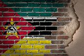 Dark Brick Wall With Plaster - Mozambique
