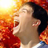 Teenager Rejoices Autumn