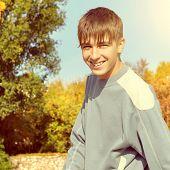 Cheerful Teenager Outdoor