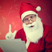Santa Claus Reads A Letter