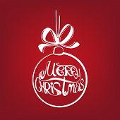 Christmas ball symbol drawn  vector illustration