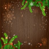 Holiday background with christmas tree. Vector design with copy space.