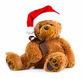 Teddy Bear Wearing A Santa Hat