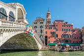 Bridge Rialto Over The Canal Grande In Venice