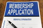 Membership Application Form On A Desk