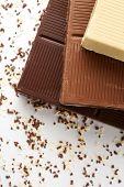 White Brown And Dark Chocolate Bar