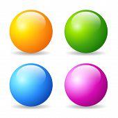 Glossy balls set