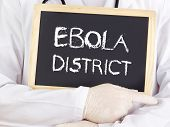 Doctor Shows Information: Ebola District