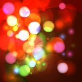 Abstract bokeh effect vector background