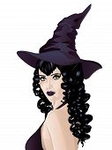 Witch With Black Hair