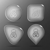 Stethoscope. Glass buttons. Vector illustration.