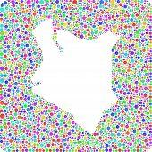 Map of Kenya - Africa -